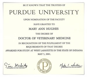 School of Veterinary Medicine Doctorate in Veterinary Medicine Purdue